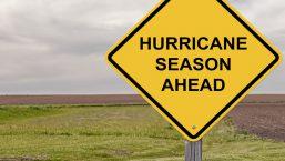 yellow hurricane season ahead sign