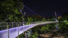Downtown Greenville South Carolina Liberty Bridge Falls Park