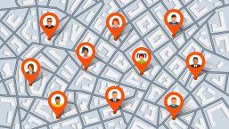 map showing target homes for criminals