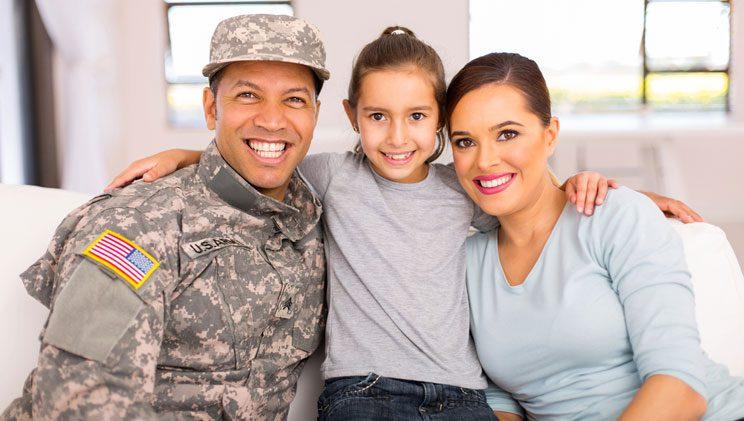 happy military family