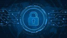 blue digital security lock